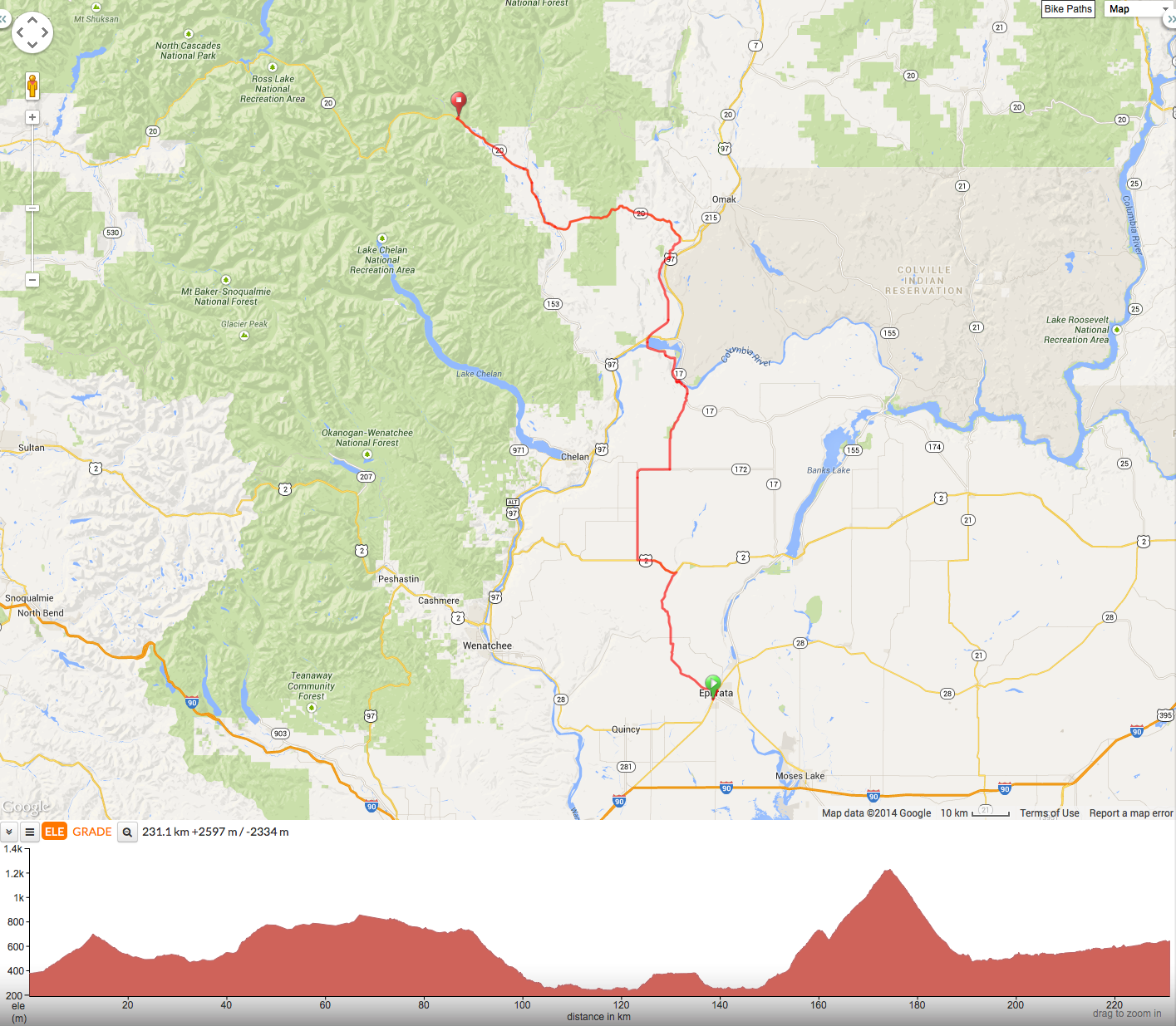 Day 3 – Ephrata to Mazama