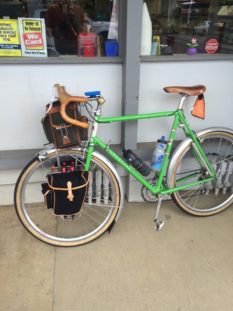 Bright green Thompson rando bike