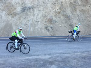 John and Ward cycling up White Pass
