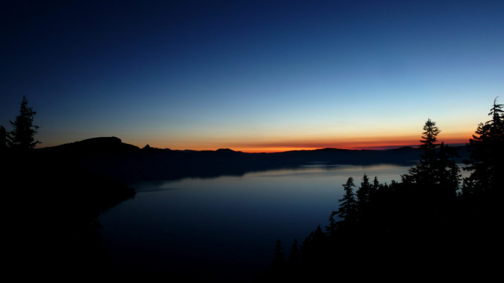 Crater Lake at dawn. Photo by Theo Roffe