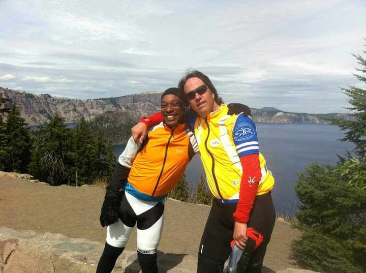 That's Rando! Vinny and Mark at Crater Lake. Photo stolen from Joe Platzner.